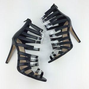 Aldo Black Clear Heels Daysie 7.5
